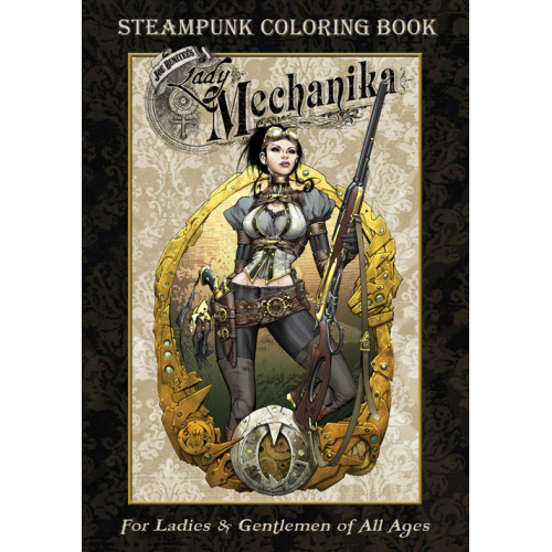 Lady Mechanika Steampunk Coloring Book (VO)