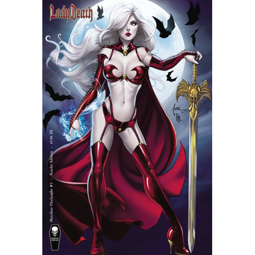 LADY DEATH MERCILESS ONSLAUGHT 1 TUCCI SCARLET VAR CVR (VO)