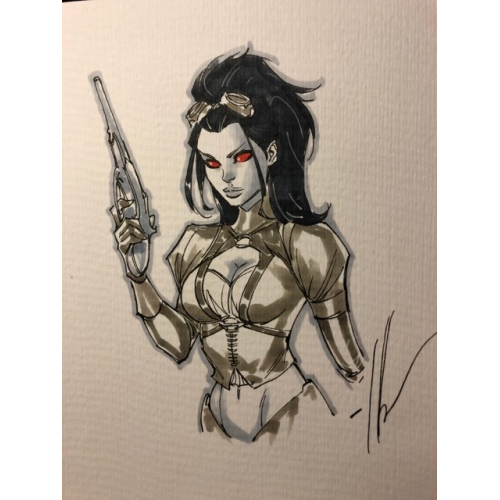 Dessin Original : Lady Mechanika par Ale Garza