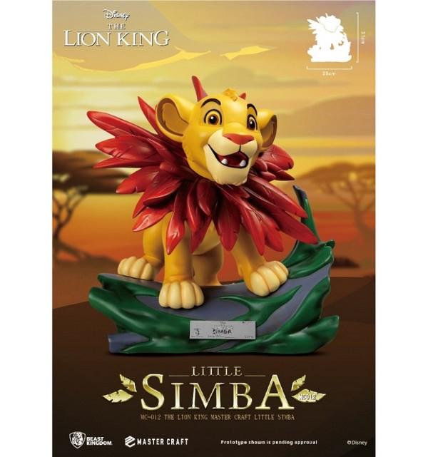 Disney - Beast Kingdom - The Lion King - Le Roi Lion - Master Craft Little Simba Statue - 30cm