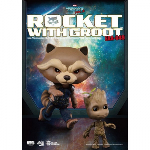 Figurine Egg Attack Les Gardiens de la Galaxie Vol. 2 Rocket Raccoon & Groot