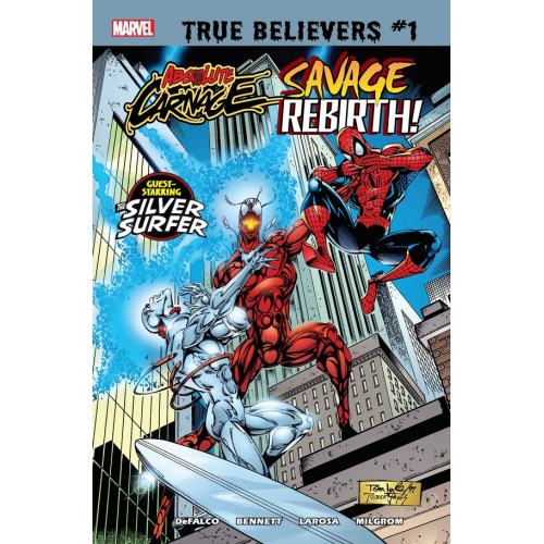 TRUE BELIEVERS ABSOLUTE CARNAGE 1 (VO) Signé par TOM DEFALCO
