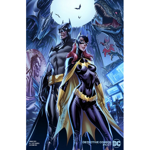 Detective Comics 1027 Batman And Batgirl Variant Cover By J. Scott Campbell (VO)