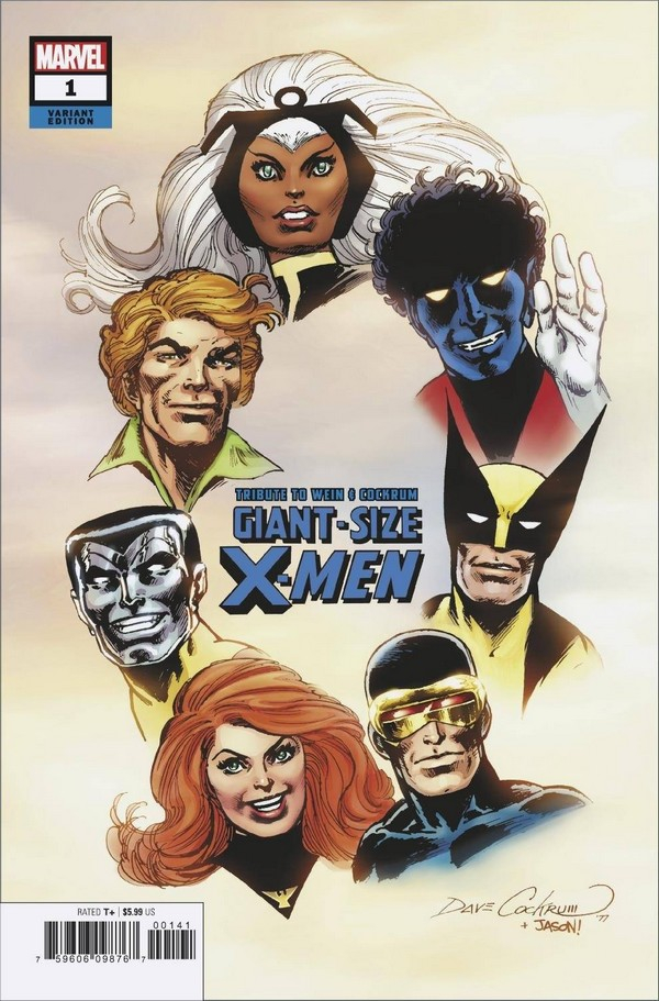 GIANT SIZE X-MEN TRIBUTE WEIN COCKRUM 1 HIDDEN GEM VAR (VO)