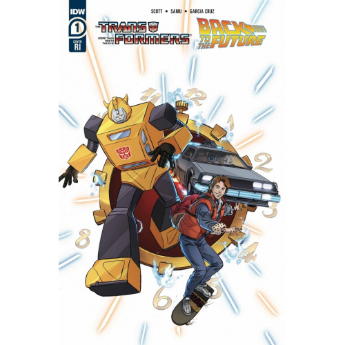 TRANSFORMERS BACK TO FUTURE 1 (OF 4) 10 COPY INCV SCHOENING (VO)