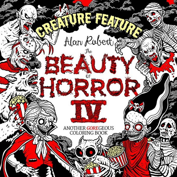 BEAUTY OF HORROR SC CREATURE FEATURE COLORING BOOK (VO)