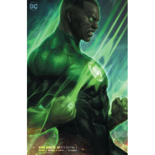 "DARK NIGHTS DEATH METAL 4 (OF 7) Green Lantern John Stewart card stock variant cover STANLEY ""ARTGERM"" LAU (VO)"