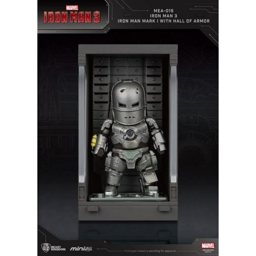 Marvel Comics - Iron Man 3 Mini Egg Attack figurine Hall of Armor Iron Man Mark I 8 cm
