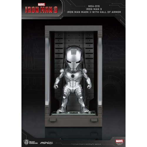 Marvel Comics - Iron Man 3 Mini Egg Attack figurine Hall of Armor Iron Man Mark II 8 cm