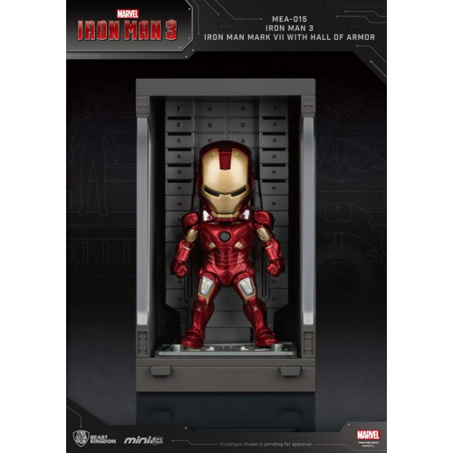 Marvel Comics - Iron Man 3 Mini Egg Attack figurine Hall of Armor Iron Man Mark VII 8 cm