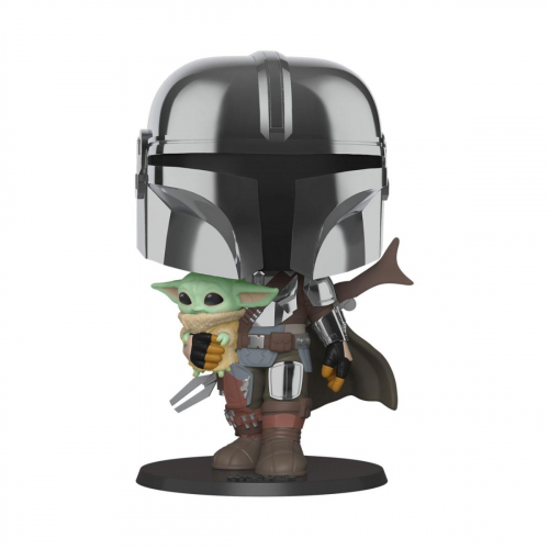 Funko Pop Star Wars - Super Sized The Mandalorian holding The Child 380