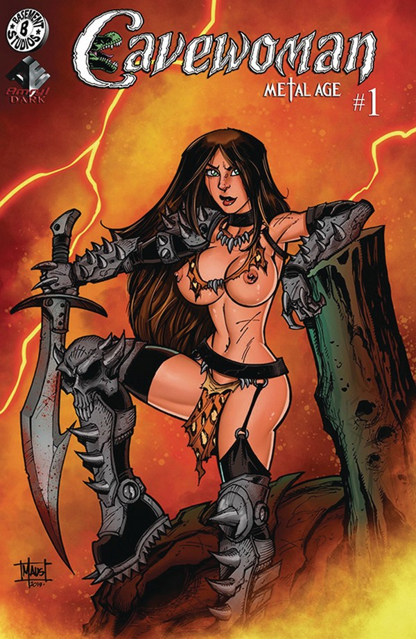 CAVEWOMAN METAL AGE 1 (OF 2) CVR D MAUS NUDE (VO)