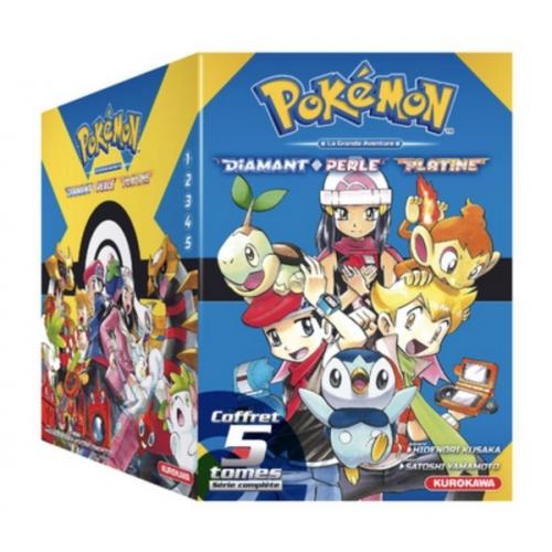 Coffret Pokémon Diamant Perle / Platine - tomes 1-2-3-4-5 + Guide Pokémon (VF)